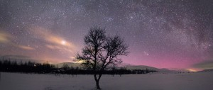 Panorama Milkyway and comet small